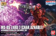 Zaku I {Char Aznable Battle of Mare Smythii} [THE ORIGIN] (HG) **PRE-ORDER**
