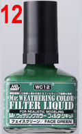 Filter Liquid Green (WC12) [Mr. Weathering Color Paint] **PRE-ORDER**