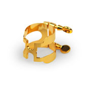 """RICO """"H"""" LIGATURE - GOLD PLATED FOR ALTO SAXOPHONE"""