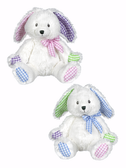 """Ganz Baby Patches Bunny With Rattle 9"""" BGE10193"""