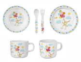Ganz Baby Bunny Plate Set 5 Pieces HE10049