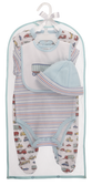Ganz Baby Truck Layette 4 Piece Set Cotton 3-6 Months BG4002