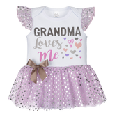 Ganz Baby Diaper Shirt With TuTu Grandma Loves Me ER40005