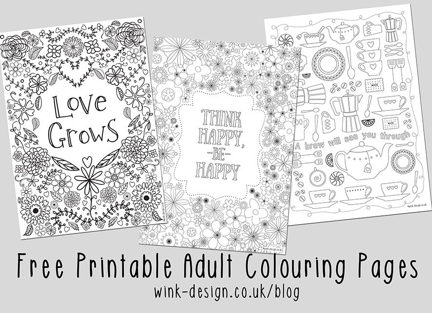 Free Printable Adult Colouring Pages - Inspirational Quotes for ...