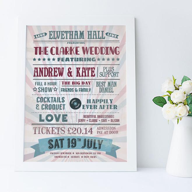Personalised Music Lovers Print - wedding idea