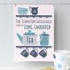 Personalised Tea And Biscuit Family Print - three cup example - blue/teal - unmounted