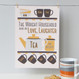 Personalised Tea And Biscuit Family Print - six cup example - yellow/grey - unmounted