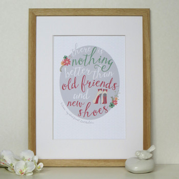 Personalised Shoe Lovers Friendship Print - Framed