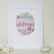 Personalised Shoe Lovers Friendship Print - Mounted
