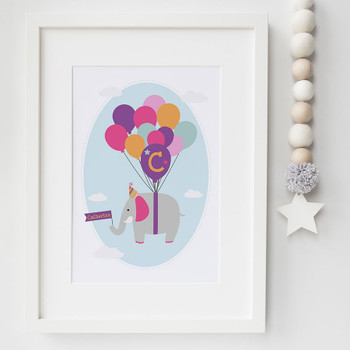 Personalised Children's Elephant Print