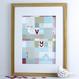 Personalised Patchwork Love Print - framed