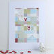Personalised Patchwork Love Print - Mounted