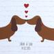 Personalised Sausage Dog Love Print - detail
