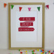 Dream It Do It Inspirational Print (In The Pink colour) - Framed