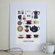 Personalised Graphic Kitchen Print - mounted