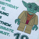 Personalised Star Wars Yoda Birthday Card - close up