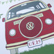Personalised Retro Camper Van Birthday Card - close up