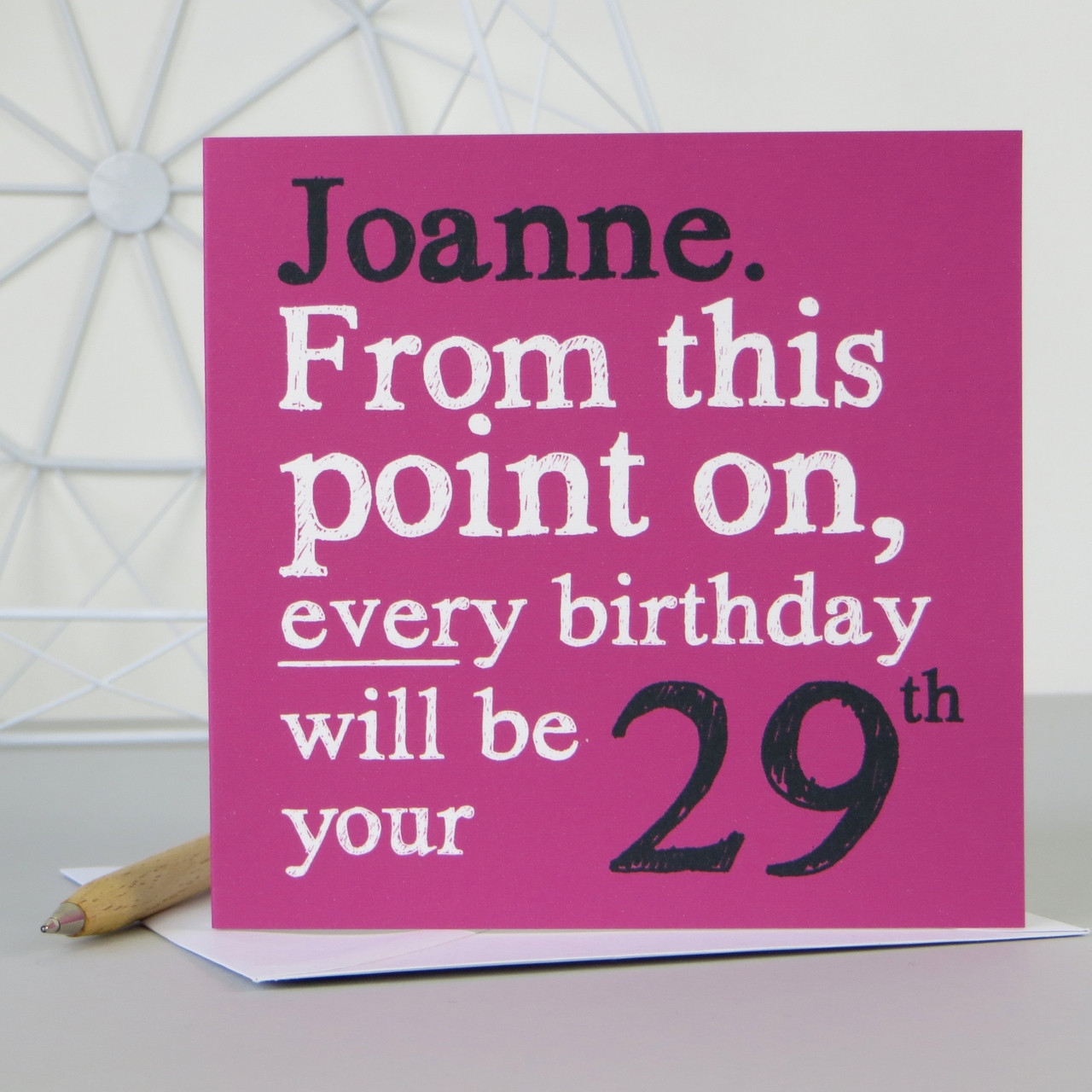 Personalised funny 29th 39th 49th birthday card personalised funny 29th 39th 49th birthday card pink kristyandbryce Images