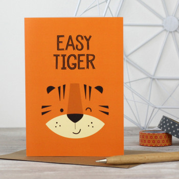 'Easy Tiger' Greeting Card