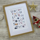 Nautical Alphabet Print For Children - unpersonalised version