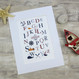 Personalised Nautical Alphabet Print For Children - mounted