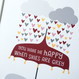 'You Make Me Happy' Personalised Elephant Love Print - detail