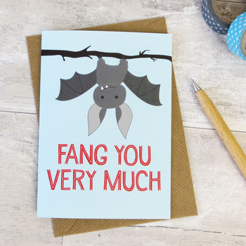 'Fang You Very Much' Bat Thank You Card