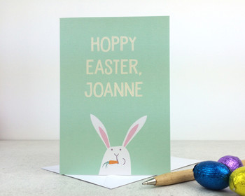 Hoppy Easter Funny Easter Card by Wink Design