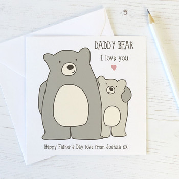 Daddy Bear Cute Fathers Day Card by Wink Design