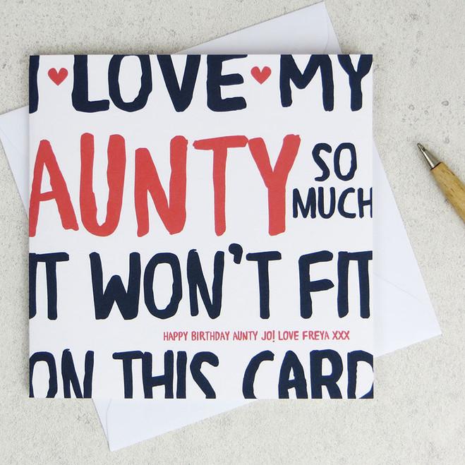 I Love My Aunty So Much Birthday Card by Wink Design