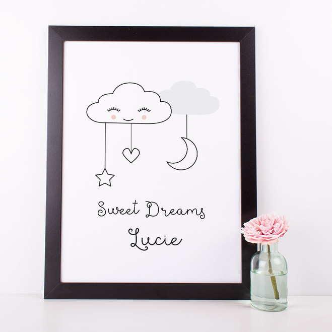 Sweet Dreams Nursery print