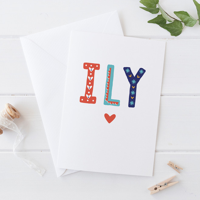 Wink Design - ILY - I Love You - Love Card, Valentines Card