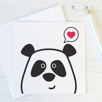 Wink Design - Panda Love - Cute Valentines Card