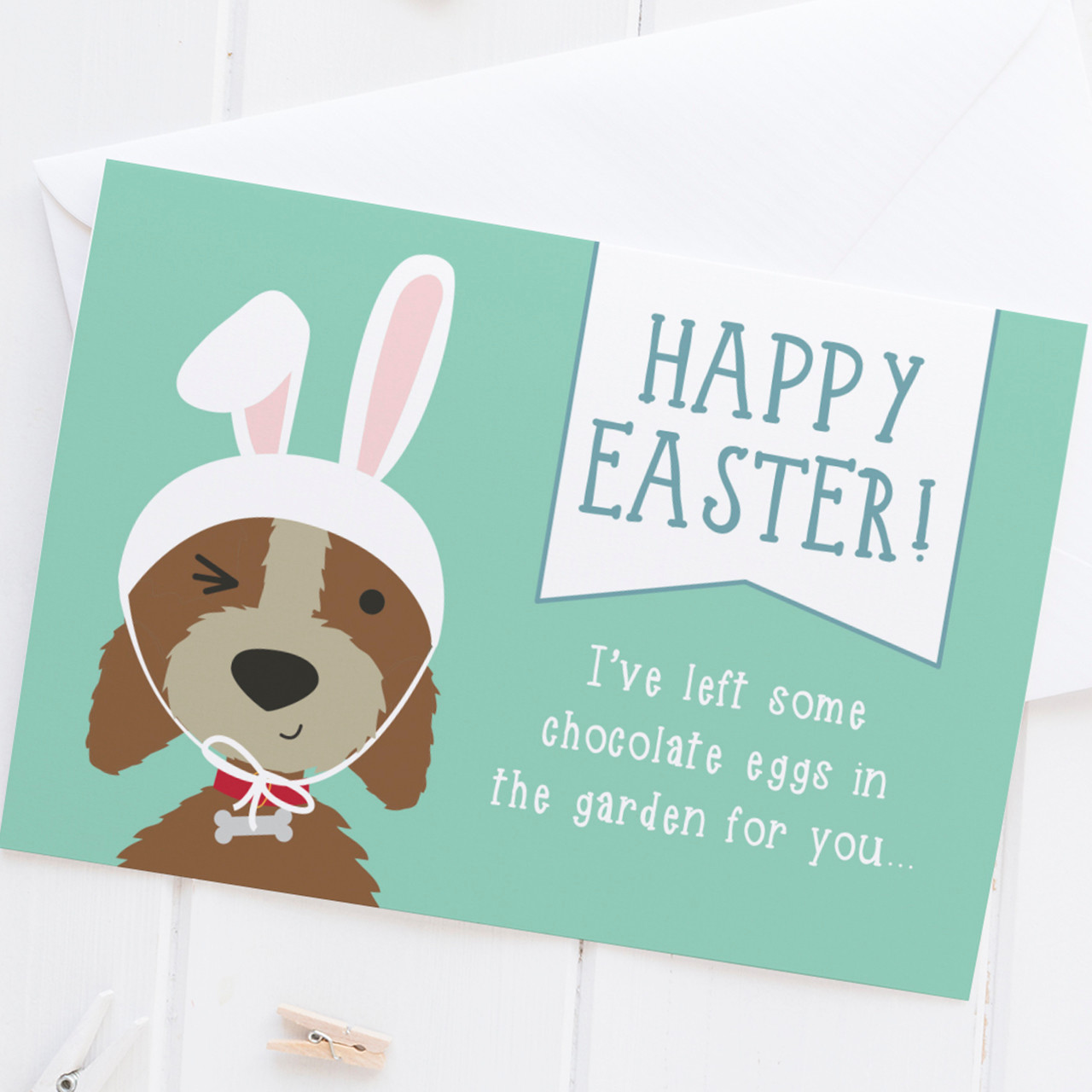 Happy easter funny dog easter card wink design kristyandbryce Choice Image