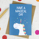 Wink Design - Happy Birthday  - Birthday Card - Unicorn Card