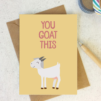 Wink Design - Animal Pun Card - Motivational Encouragement Card