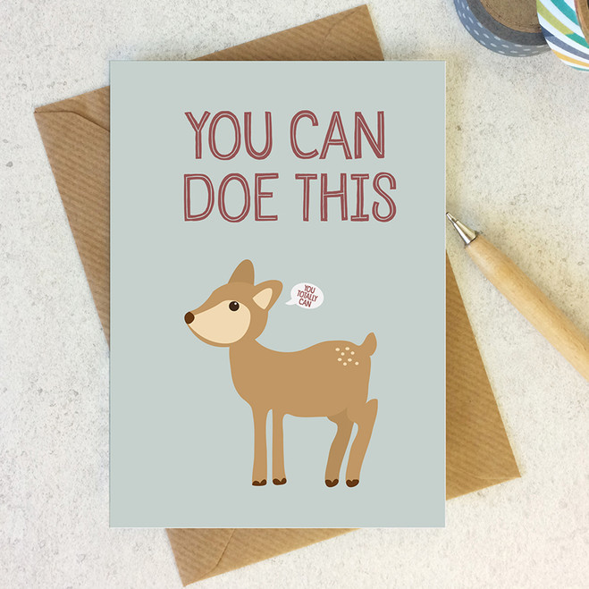 Wink Design - Animal Pun Card - Motivational Encouragement Card