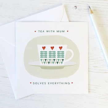 Wink Design - Mother's Day Card - Scandi Card - Tea with Mum