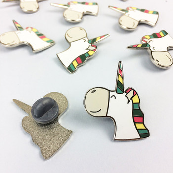 Cute Unicorn Enamel Pin Badge