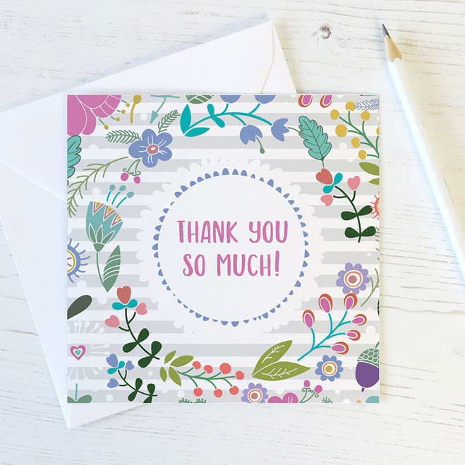 Floral Thank You Card by Wink Design
