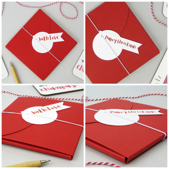 Wink Design - Funny Drinks Coaster - Gift Wrap