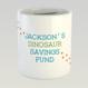 Personalised Dinosaur Savings Fund Money Box by Wink Design