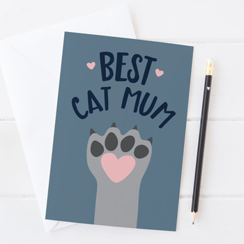 Wink Design Best Cat Mum Card