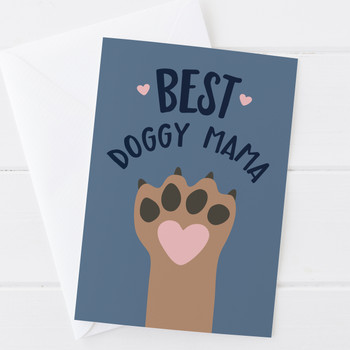 Wink Design Best Doggy Mama Birthday or Mothers Day Card