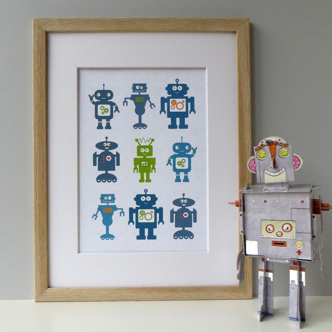 Graphic Robot Print