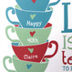 'Life Is Like A Tea Cup' Personalised Print - detail