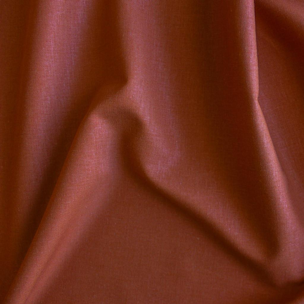 Stretch Linen Viscose - Rust | Blackbird Fabrics