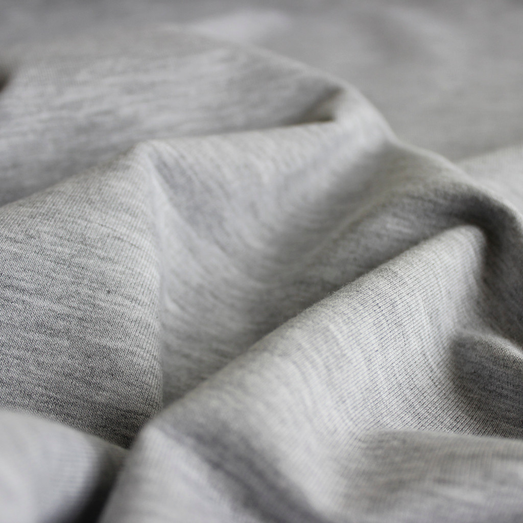 Bamboo & Cotton French Terry - Light Grey Mix   Blackbird Fabrics