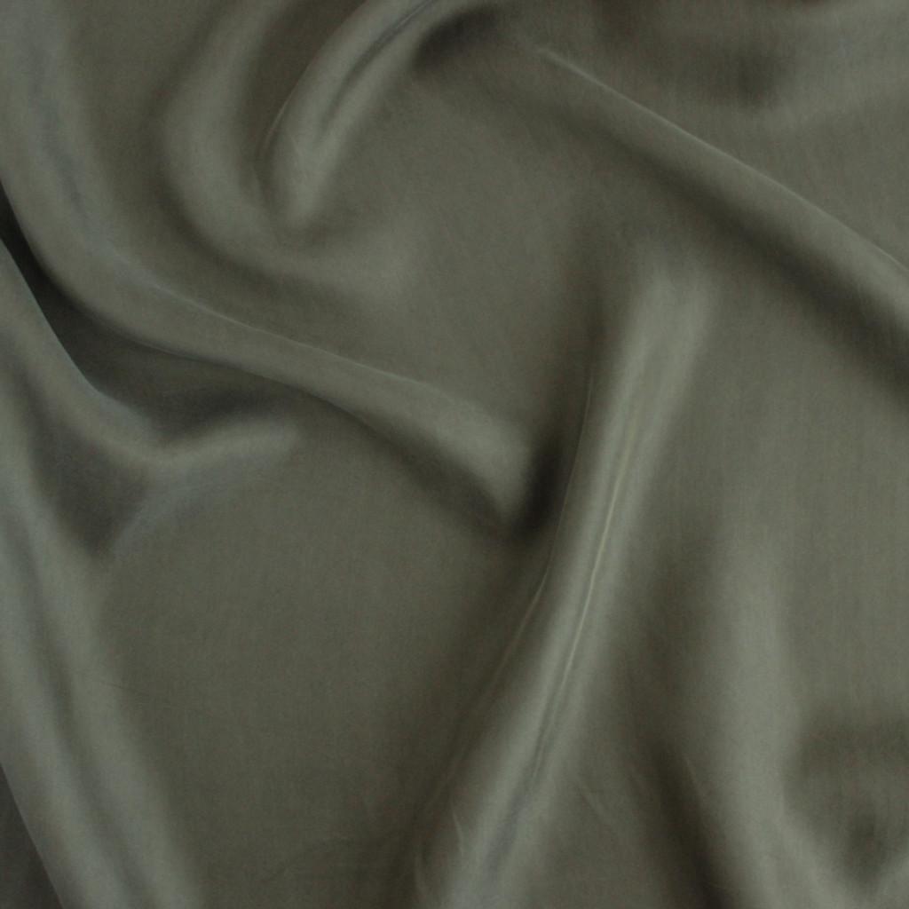 Cupro & Viscose Twill - Olive | Blackbird Fabrics