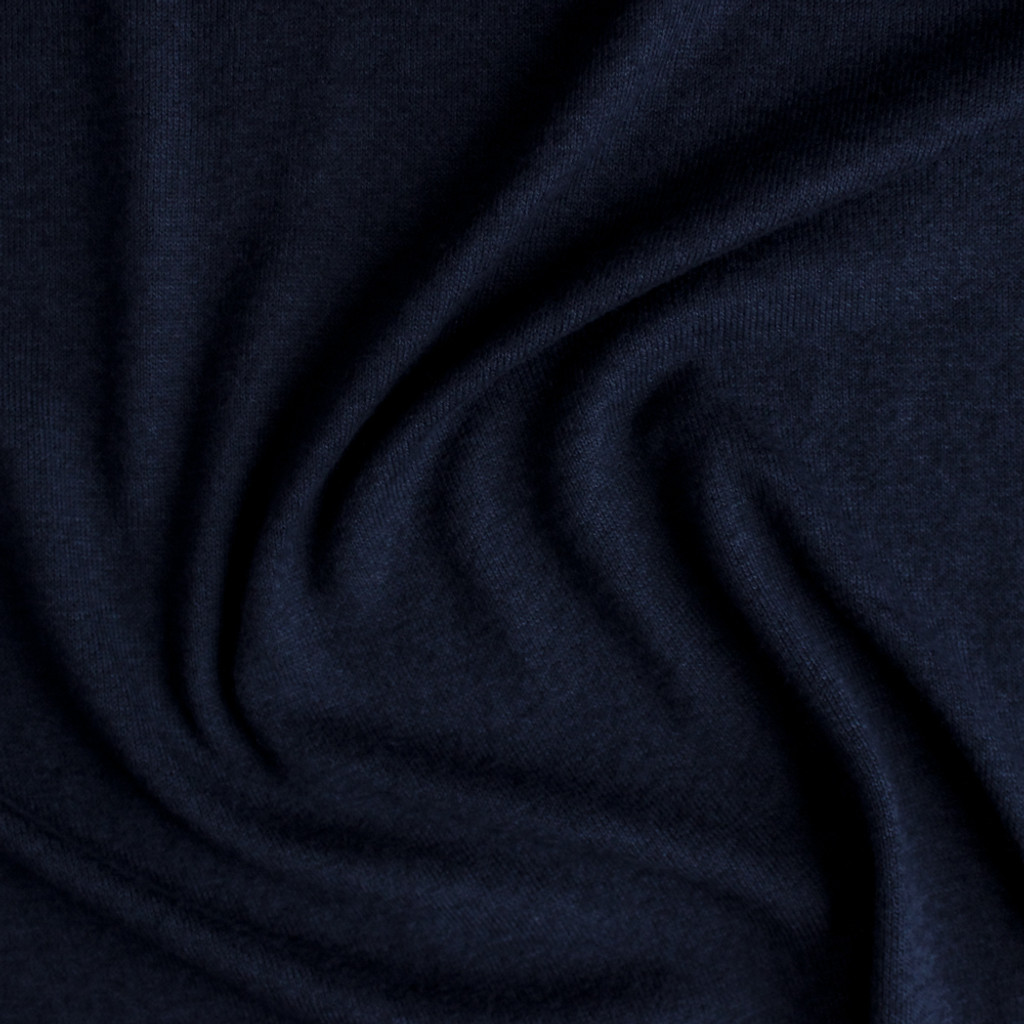Rayon, Cotton, & Modal Sweater Knit - Navy | Blackbird Fabrics
